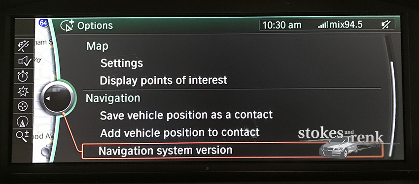 BMW CIC Options Menu
