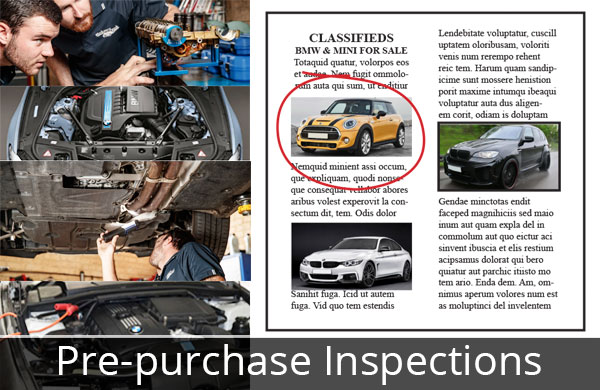 BMW and MINI Pre-Purchase inspection